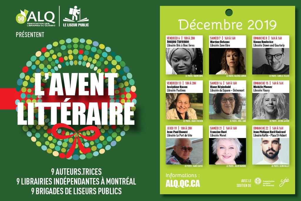 L'Avent littéraire dans 9 librairies indépendantes de Montréal